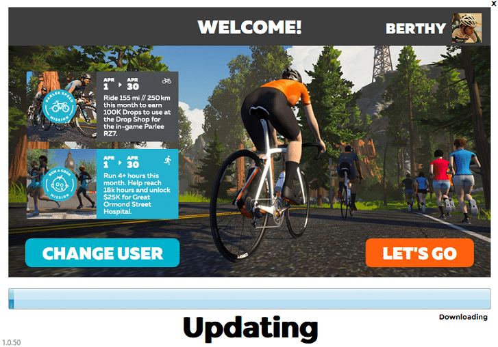 zwift welcome